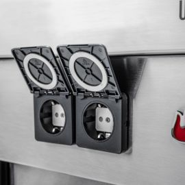 Bucatarie exterioara modulara Char-Broil Ultimate Entertainment 140905, chiuveta, tocator, cutie termoizolanta - 11