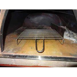 Gratar din inox pentru cuptor traditional pentru pizza pe lemne Maximus 32 x 27,5 x 6,5 cm - 1