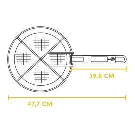 Cos pentru prajire din otel inoxidabil rotund cu diametru de 26 cm pentru ceaunele Lodge L-10FB2 - 5