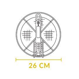 Cos pentru prajire din otel inoxidabil rotund cu diametru de 26 cm pentru ceaunele Lodge L-10FB2 - 6