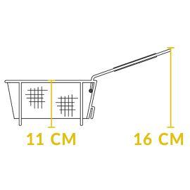 Cos pentru prajire din otel inoxidabil rotund cu diametru de 26 cm pentru ceaunele Lodge L-10FB2 - 7