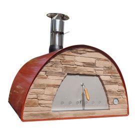 Cuptor traditional pentru pizza pe lemne Maximus Arena rosu - 1