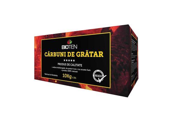 Carbune de gratar 10 kg tip A brichete din rumegus Bioten - 1