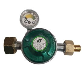 Set regulator gaz de presiune cu furtun si manometru Grand Hall A00080040T - 1