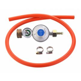 Set regulator de presiune gaz cu manometru si furtun 85 cm Cadac 30mBar Overflow 8510-OF - 1