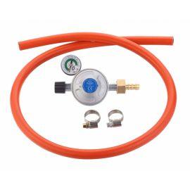 Set regulator de presiune gaz cu manometru si furtun cu filet 1 pe 4 Cadac 30mBar Overflow 8515-OF - 1