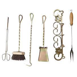 Set 6 unelte pentru cuptor traditional pentru pizza pe lemne Maximus Tools - 1