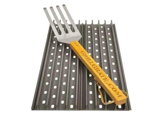 Set 2 grile pentru gratar de 44 x 13 cm si spatula GrillGrate WGG17.375K - 1