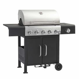 Gratar pe gaz cu 5+1 arzatoare, gratar si plita din fonta, sistem PTS, Grill Chef Landmann Trendy 12276 - 1