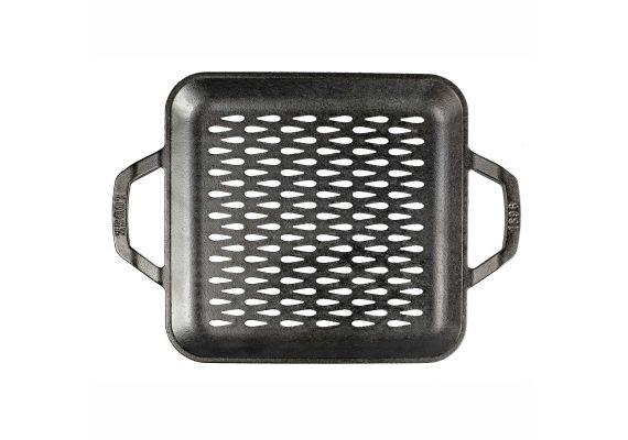 Tava patrata cu doua manere si gauri perforate pentru gratar Chef Collection Lodge 28 cm L-C11SGT - 1