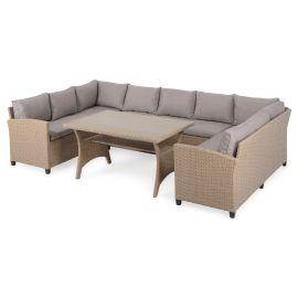 BAXTER Set mobilier terasa/gradina, coltar 4 piese spatiu depozitare 37882SET Natur Bej - 1