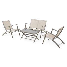 WESTSHORE Set mobilier terasa/gradina, canapea, 2 fotolii si masuta EVR23000 Natu Maro - 1