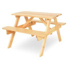 KIDS PICNIC Set mobilier terasa/gradina, masa pliabila, 2 banchete TPW13017SET Natur - 1