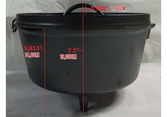 Ceaun din fonta cu capac - cuptor olandez Lodge 25,4 cm 4,7 litri L-10DCO3