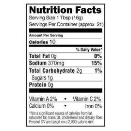 Sos Stubb's Beef Marinade 330 ml 340 g ST-208 informatii nutritionale