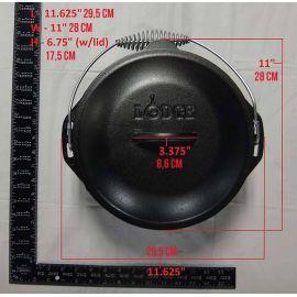 Ceaun din fonta cu capac - cuptor olandez Lodge 25,4 cm 4,7 litri L-8DO3