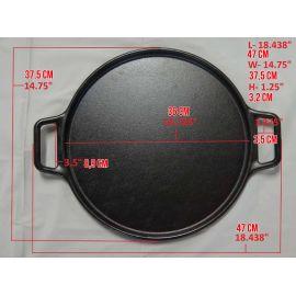 Tigaie din fonta pentru pizza Lodge 36 cm L-P14P3 - 14