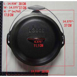 Ceaun din fonta cu capac - cuptor olandez Lodge 34 cm 8,5 litri L-12DO3