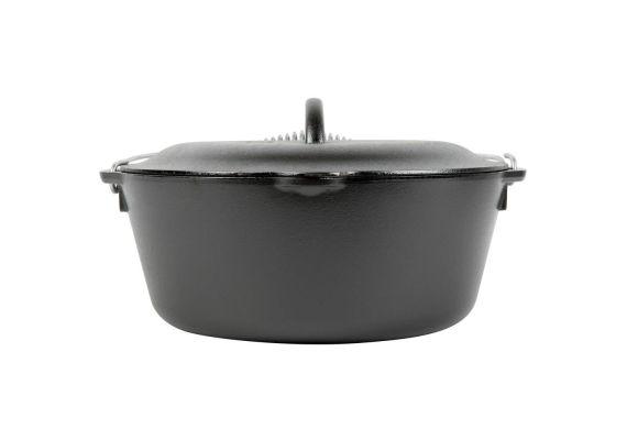Ceaun din fonta cu capac - cuptor olandez Lodge 30 cm 6,7 litri L-10DO3