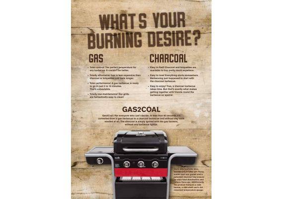 Gratar pe gaz si carbuni hibrid Char-Broil Gas2Coal 330 cu 3 arzatoare 140723