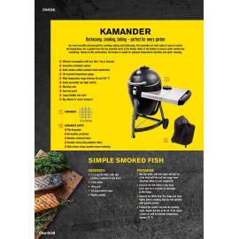 Gratar pe carbuni grila din fonta Kamado Char-Broil Kamander