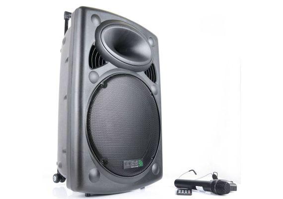 Boxa activa portabila Ibiza difuzor 38cm 800W USB/SD/BT/UHF PORT15UHF-BT - 1