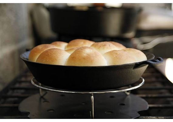 Tava rotunda din fonta pentru placinta 25 cm Camp Chef CC-CIPIE10