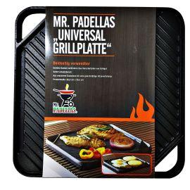 Plita universala din fonta cu 2 fete neteda si grill 26 x 26 cm Mr. Padelllas Activa 20020