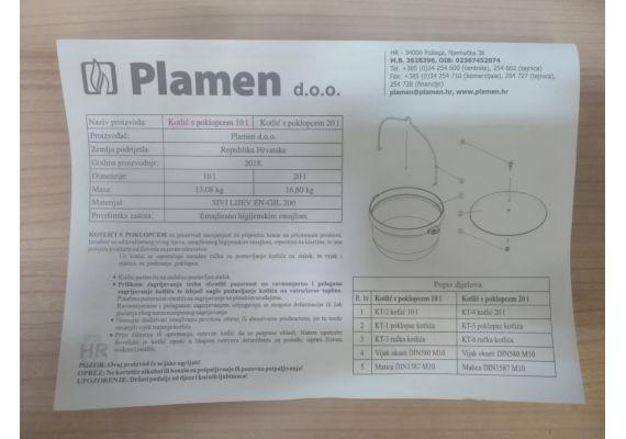 Ceaun din fonta emailata cu capac 10 litri PFH009