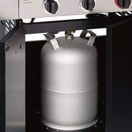 Bucatarie pe gaz, 4 arzatoare inox, arzator infrarosu, grile fonta, Enders Kansas Pro 4 SIK Profi Turbo 8708