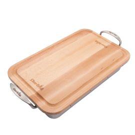 Tava din inox cu tocator de lemn Char-Broil 140014
