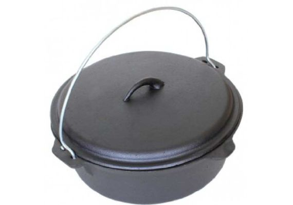 Ceaun din fonta cu capac 5,5 litri PFH007 - 1