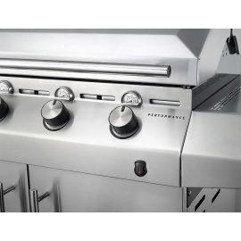 Gratar pe gaz cu 4 arzatoare din inox, TRU-Infrared, gratare din fonta, Char-Broil Performance T47G 140676