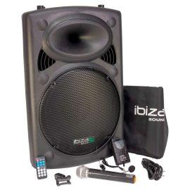 Boxa activa portabila Ibiza difuzor 38CM USB MP3 PORT15VHF-BT - 1